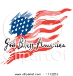 1172258-Clipart-Of-A-Waving-American-Flag-And-God-Bless-America-Text-Royalty-Free-Vector-Illustration