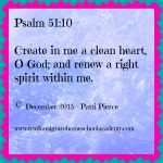 Psalm 51 10 for 2016