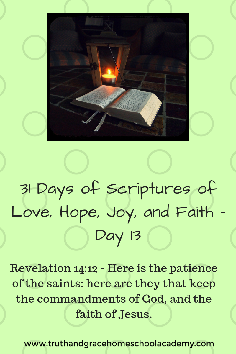 31 Days of Scriptures of Love, Hope, Joy, and Faith