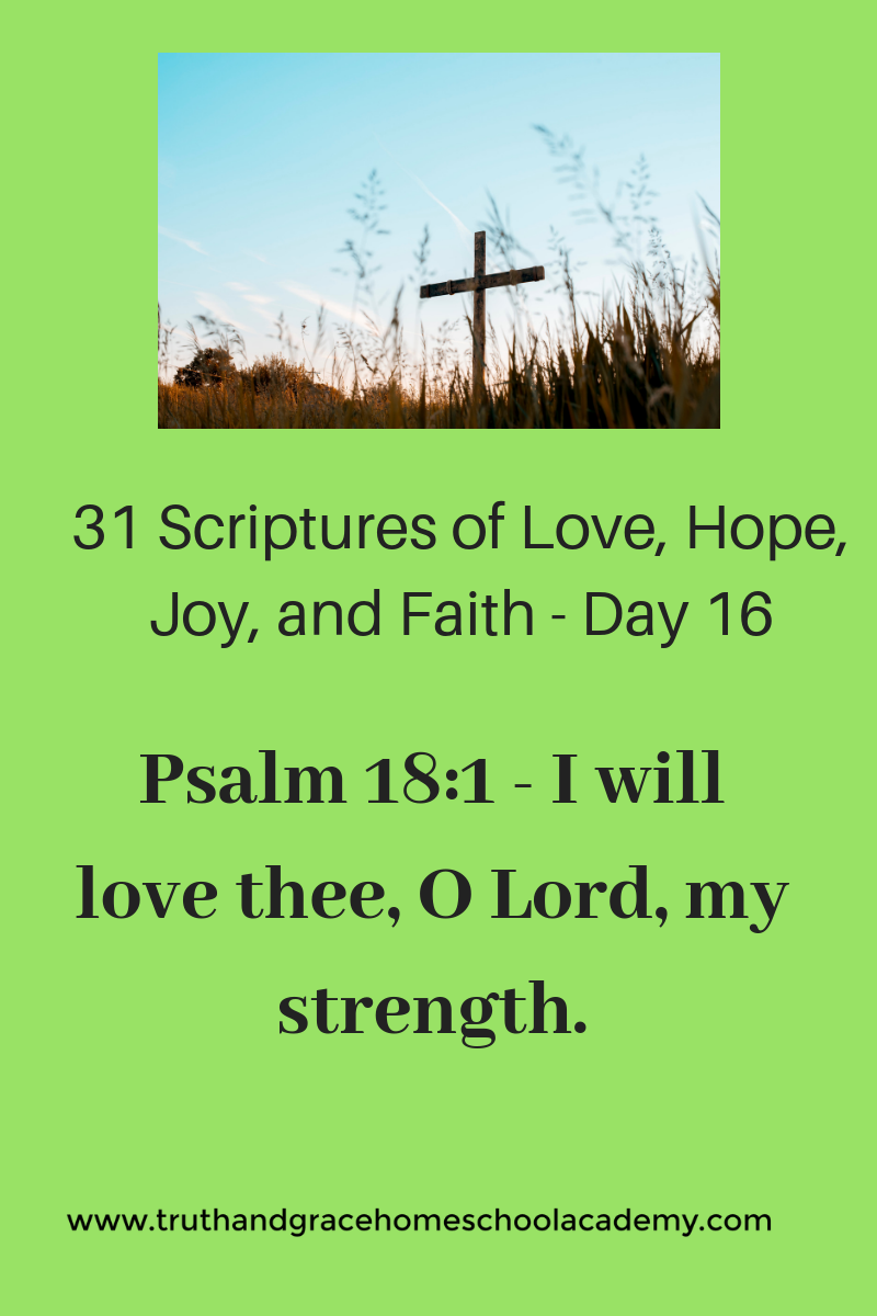 31 Scriptures of Love, Hope, Joy, and Faith - Day 16