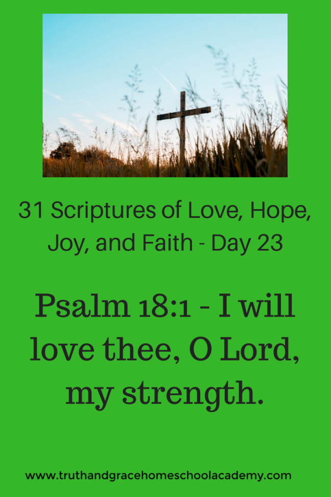 31 Scriptures of Love, Hope, Joy, and Faith - Day 23