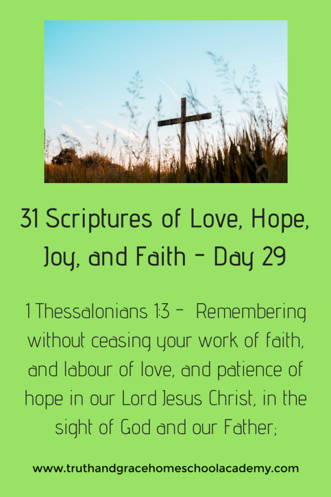 31 Scriptures of Love, Hope, Joy, and Faith - Day 29