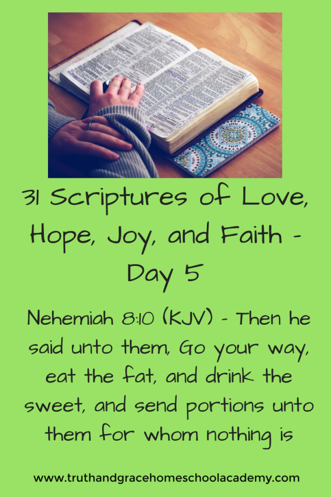 31 Scriptures of Love, Hope, Joy, and Faith - Day 5