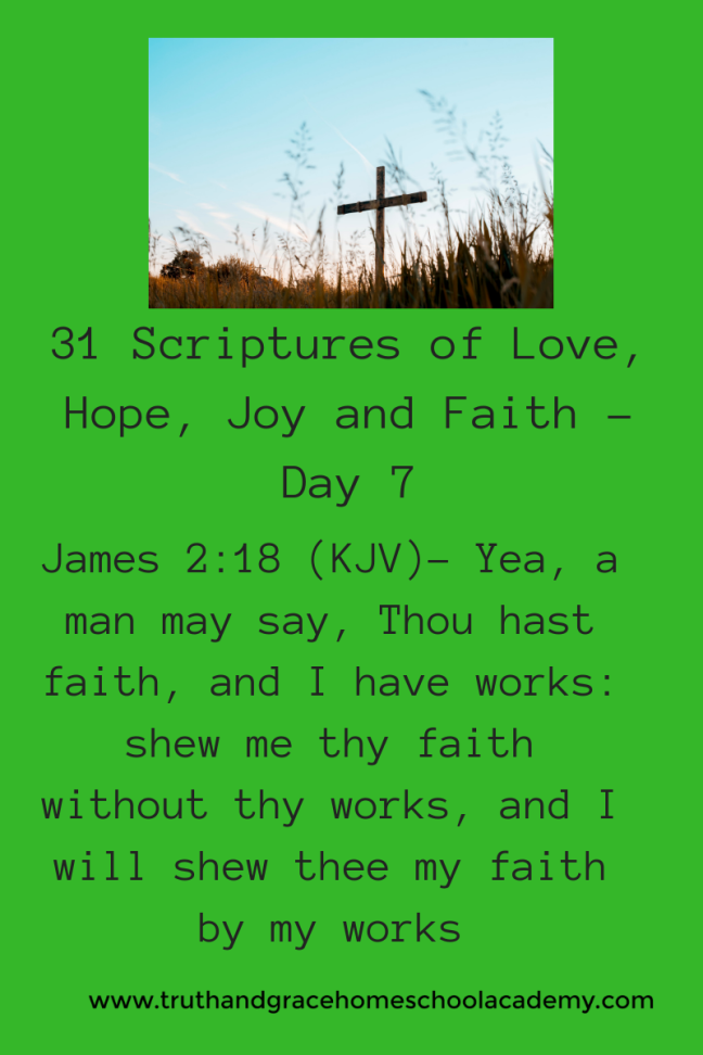 31 Scriptures of Love, Hope, Joy and Faith - Day 71