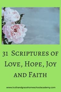 31 Scriptures of Love, Hope, Joy and Faith1