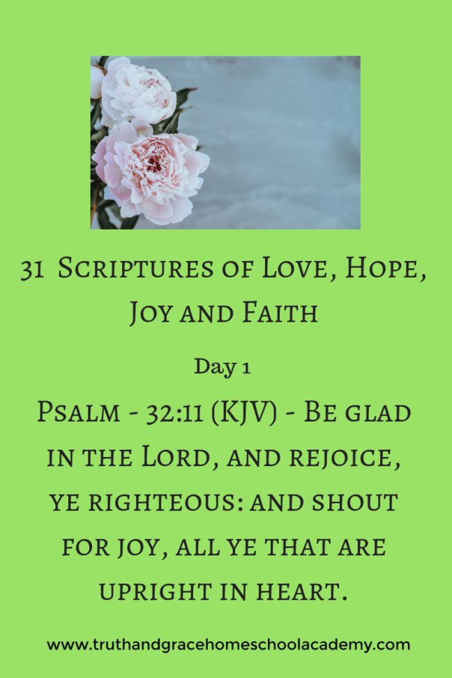 31 Scriptures of Love, Hope, Joy and Faith1(1)