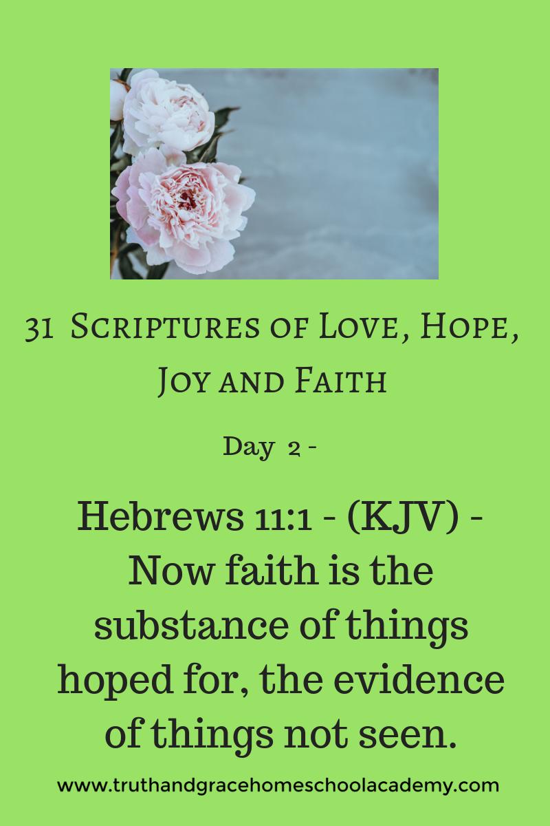 31 Scriptures of Love, Hope, Joy and Faith1