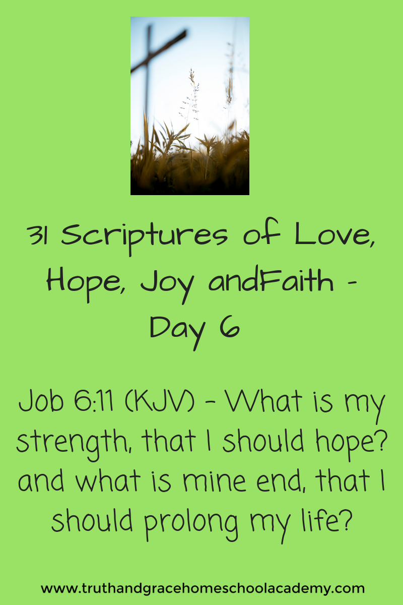 31 Scriptures of Love, Hope, Joy andFaith - Day 6 1