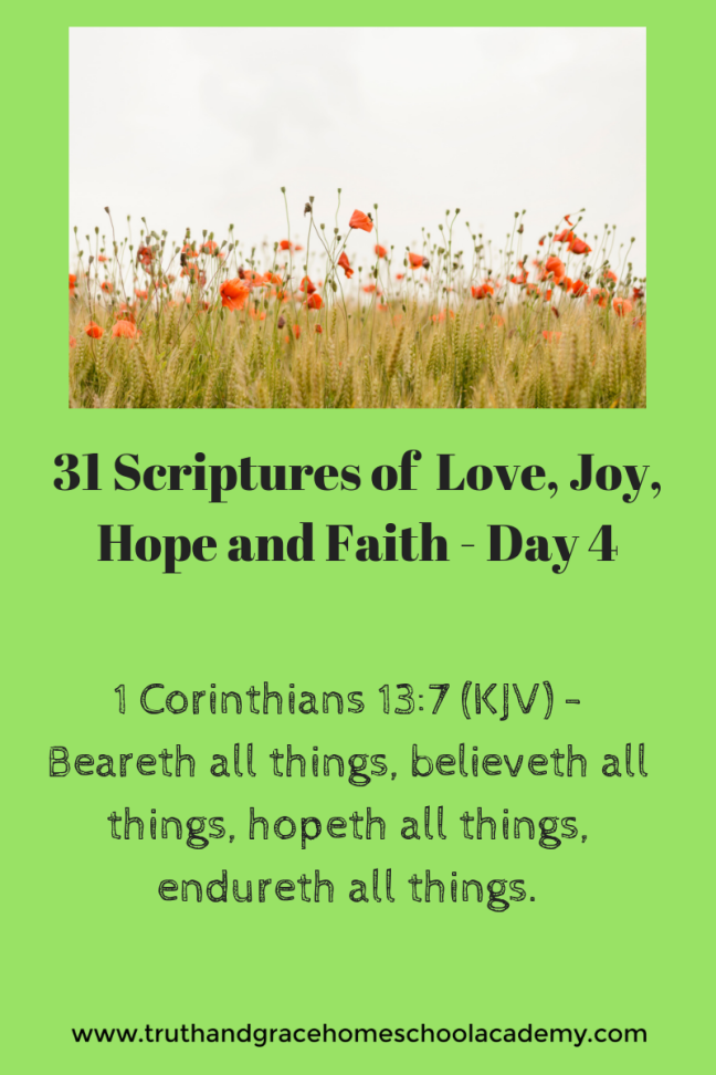 31 Scriptures of Love, Joy, Hope and Faith - Day 3 1