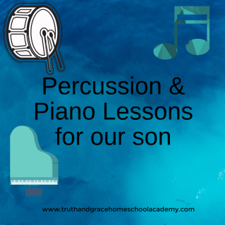Percussion & Piano Lessons for our son