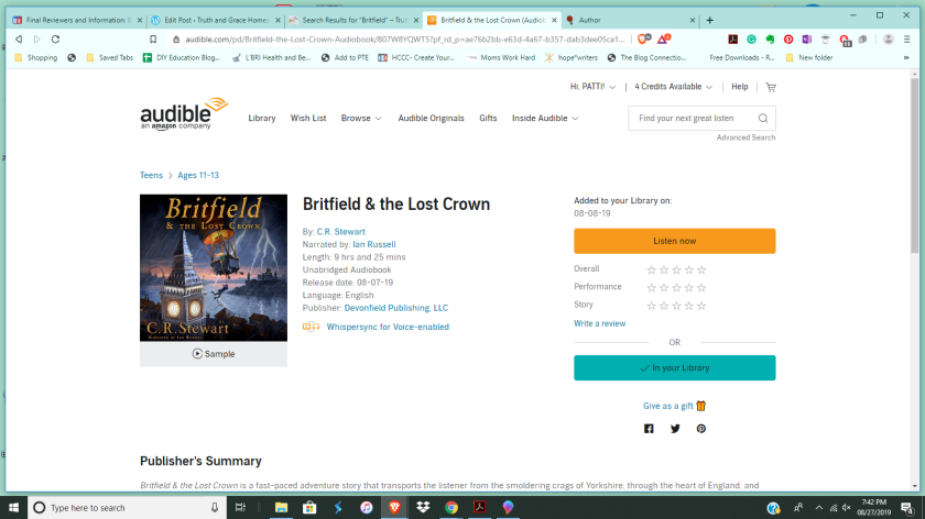 Audible picture for Britfield & The Lost Crown