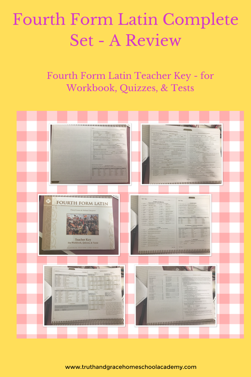Fourth Form Latin Complete Set - A Review