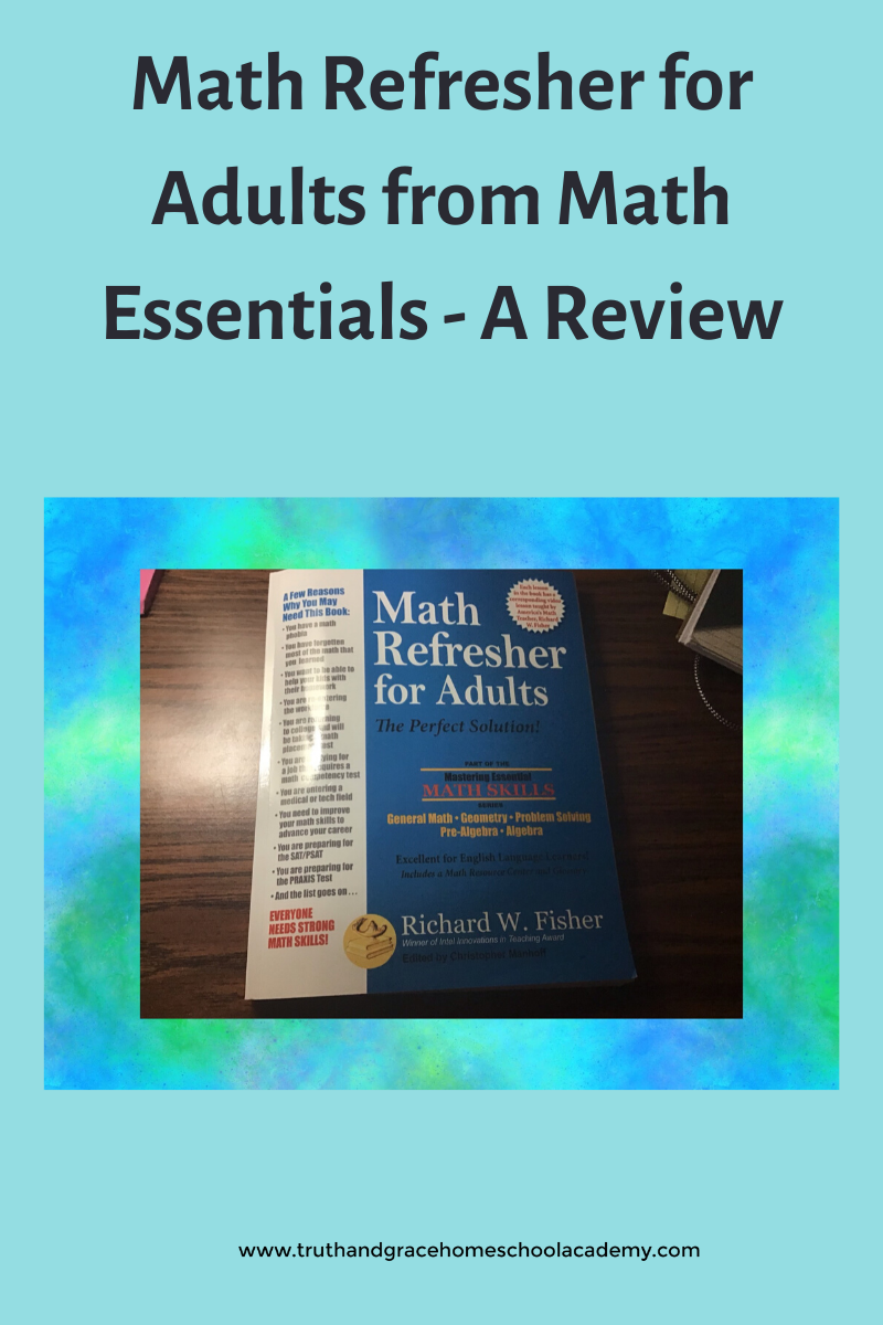 Math Refresher for Adults from Math Essentials - A Review
