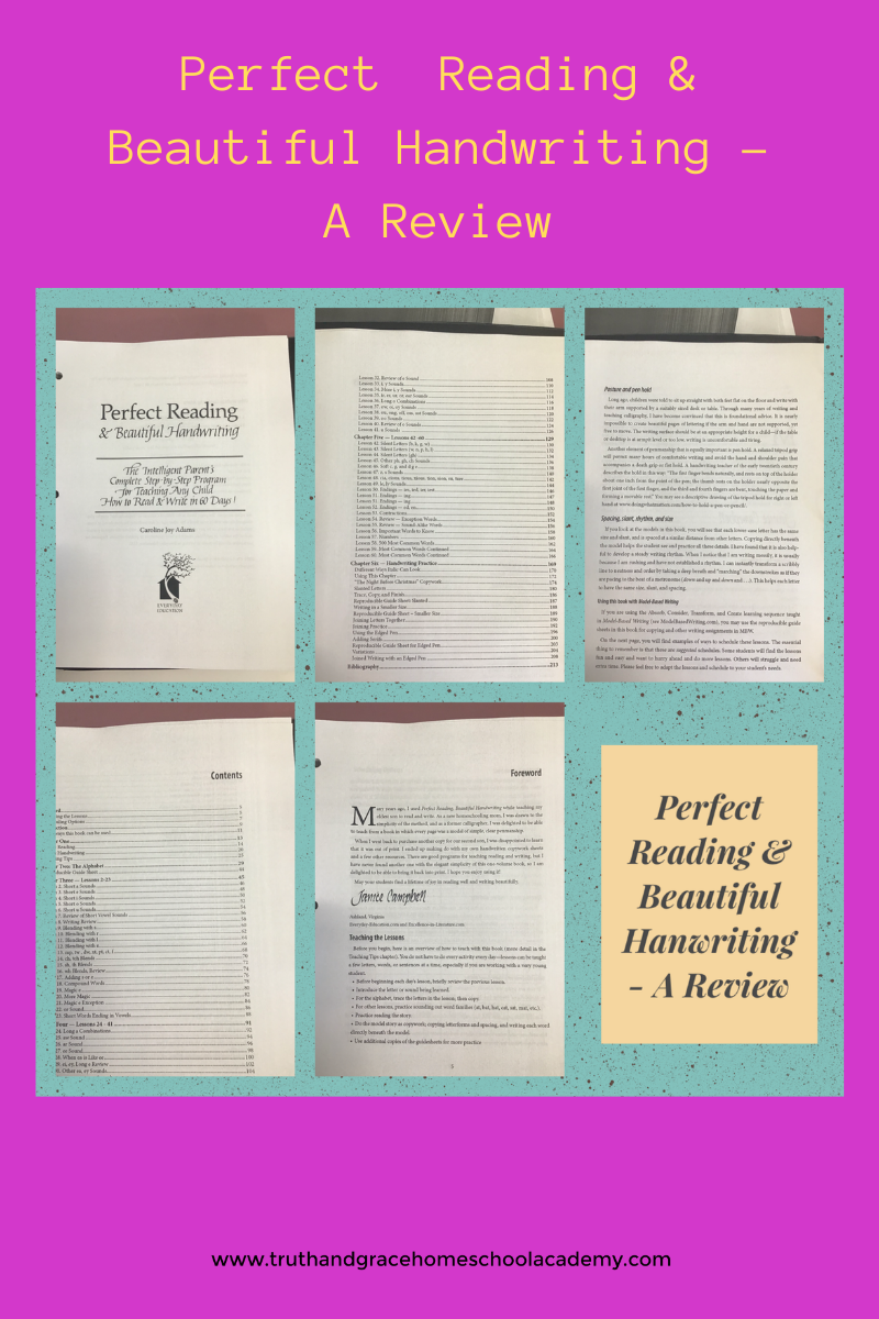 Perfect Reading & Beautiful Handwriting - A Review