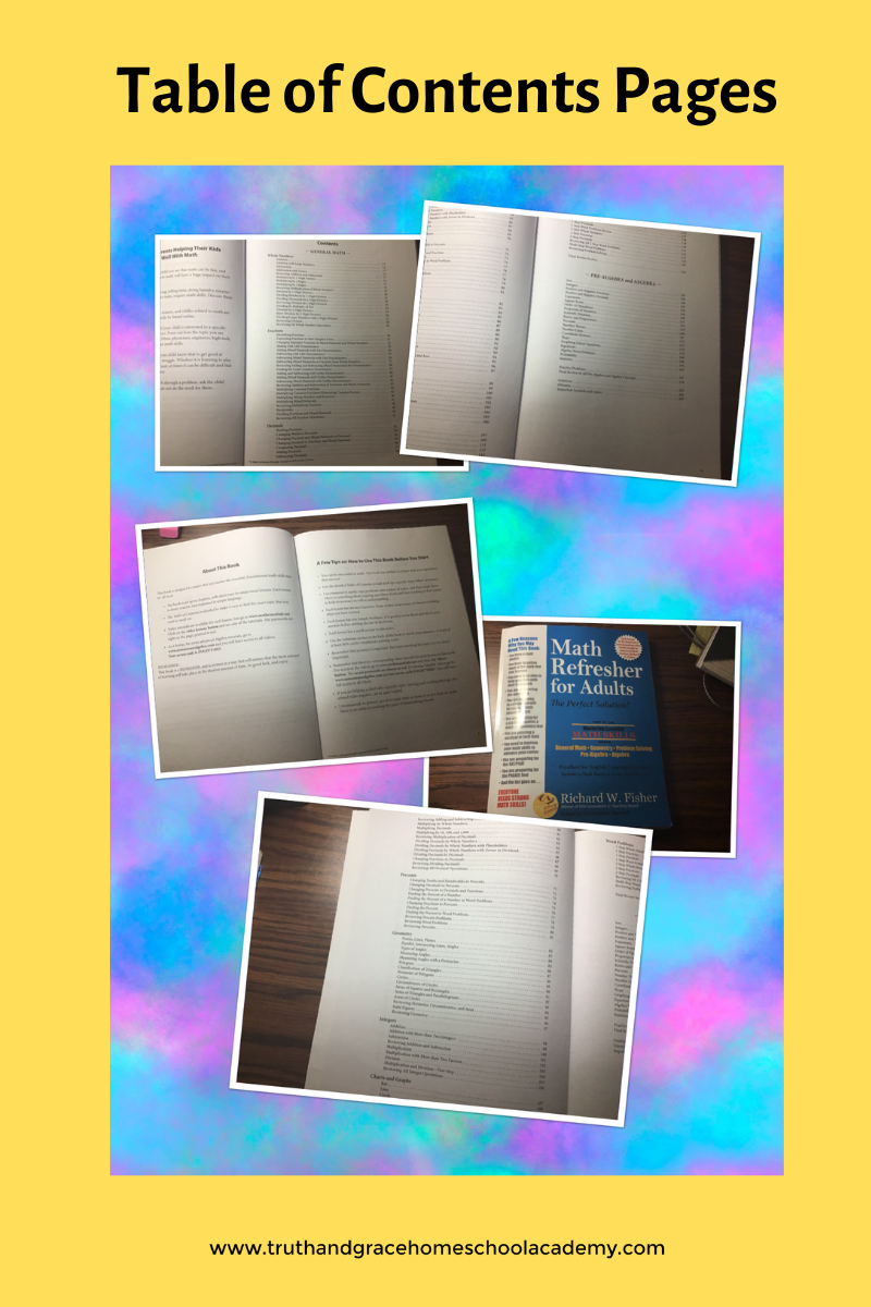 Table of Contents Pages