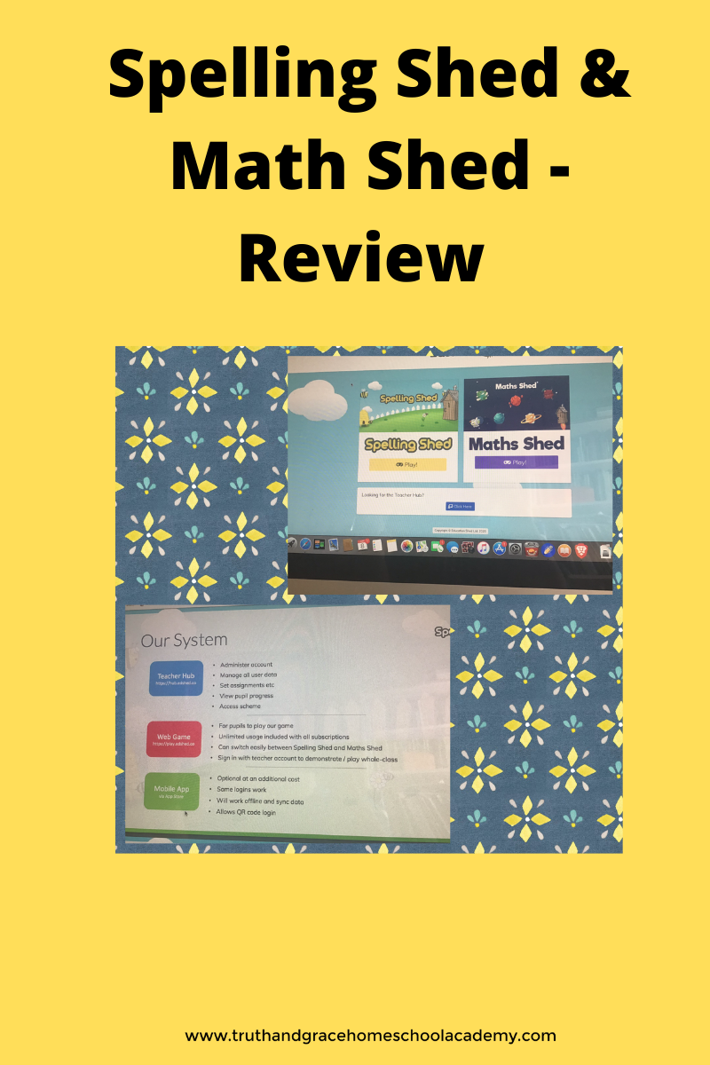 Spelling Shed & Math Shed -Review