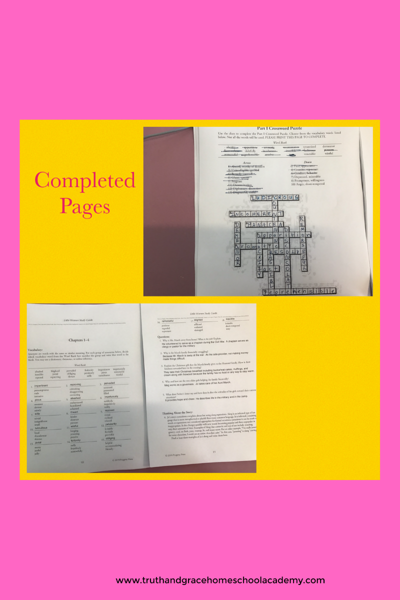 Little Women Completed Pages